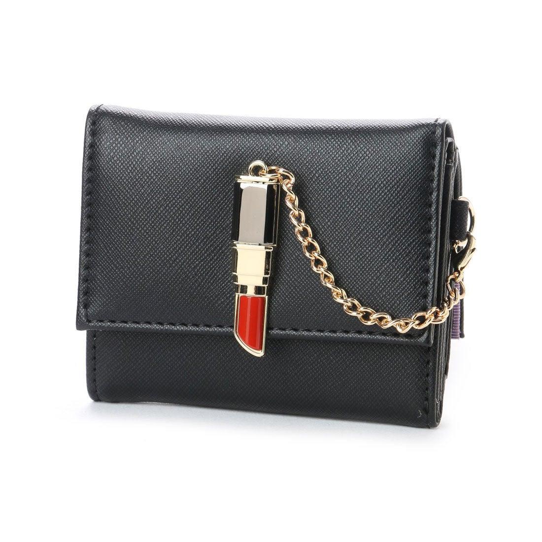 e2ae3c381c14 スパイラルガール SPIRAL GIRL 口紅型金具付き折財布 (ブラック) -靴&ファッション通販 ロコンド〜自宅で試着、気軽に返品