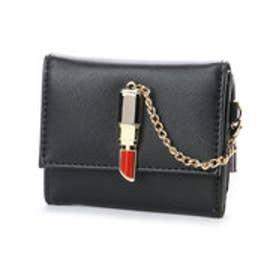 スパイラルガール SPIRAL GIRL 口紅型金具付き折財布 (ブラック)