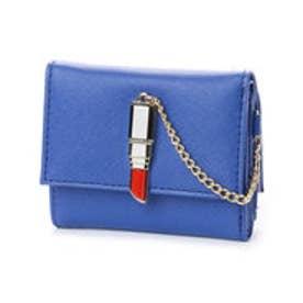 スパイラルガール SPIRAL GIRL 口紅型金具付き折財布 (ブルー)