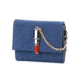 スパイラルガール SPIRAL GIRL 口紅型金具付き折財布 (ネイビー)