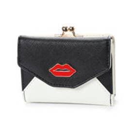 スパイラルガール SPIRAL GIRL リップポイント3つ折りミニ財布 (ブラック)