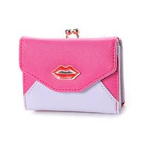 スパイラルガール SPIRAL GIRL 【SPIRALGIRLスパイラルガール】リップポイント3つ折りミニ財布 (ピンク)