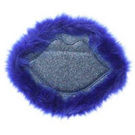 スパイラルガール SPIRAL GIRL リップ型グリッター使いフェイクファースタンドミラー (ブルー)