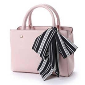 【unjour de clairアンジュールドクレール】スクエアライン2WAYスタイルバッグ (ピンク)