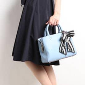【unjour de clairアンジュールドクレール】スクエアライン2WAYスタイルバッグ (ブルー)