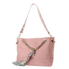 ビバユー VIVAYOU 【VIVAYOU ビバユー】スカーフ使いチェーンハンドル2WAYバッグ (ピンク)