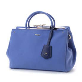 ビバユー VIVAYOU 【VIVAYOU ビバユー】フラワー柄ベルト付き2wayがま口バッグ (ブルー)