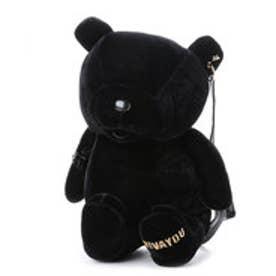 【VIVAYOU ビバユー】ぬいぐるみのような小熊型リュック (ブラック)