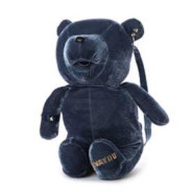 【VIVAYOU ビバユー】ぬいぐるみのような小熊型リュック (ブルー)