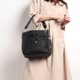ビバユー VIVAYOU リネン風素材コンビ2wayスタイルバッグ (ブラック)