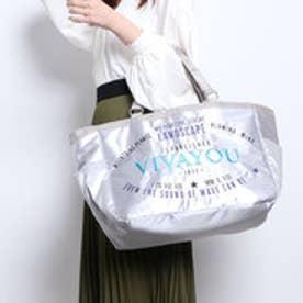 ビバユー VIVAYOU ロゴ刺繍入りビッグトート (シルバー)