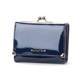 ビバユー VIVAYOU 【VIVAYOU ビバユー】エナメル調合皮3つ折り財布 (ネイビー)