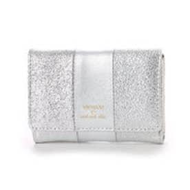 ビバユー VIVAYOU メタリック合皮コンパクト財布 (シルバー)