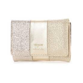 ビバユー VIVAYOU メタリック合皮コンパクト財布 (ゴールド)