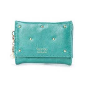 ビバユー VIVAYOU スタッズ使い3つ折りコンパクト財布 (グリーン)