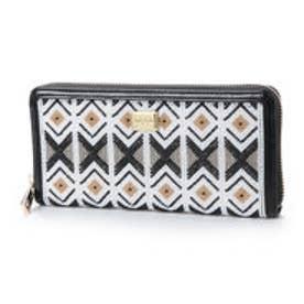 ビバユー VIVAYOU ビーズシート使いギザギザ柄ラウンドジッパー長財布 (ブラック)