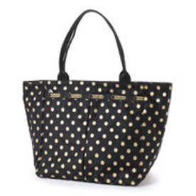 レスポートサック LeSportsac SMALL EVERYGIRL TOTE (BLACK & GOLD FOIL)