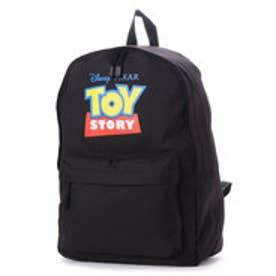 ディズニー Disney ディズニー【Disney】ロゴプリントデイパック (ブラック×レッド)
