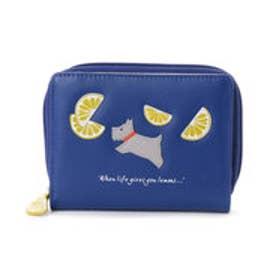 ラドリー RADLEY WHEN LIFE GIVES YOU ラウンドジップ財布 (BLUE)