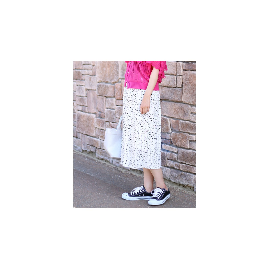 c5b35d8212943 Bou Jeloud  WEB限定 ドットプリーツミディスカート(オフホワイト) 返品不可商品  -靴&ファッション通販 ロコンド〜自宅で試着、気軽に 返品