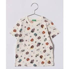 BENETTON (UNITED COLORS OF BENETTON (BOYS) KIDSパイレーツ総柄Tシャツ・カットソー(ホワイト系その他)【返品不可商品】