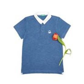 BENETTON (UNITED COLORS OF BENETTON (BOYS) KIDSバックアップリケポロシャツ(ネイビー)【返品不可商品】