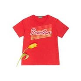 BENETTON (UNITED COLORS OF BENETTON (BOYS) KIDSベーシックロゴサマーTシャツ・カットソー(レッド)【返品不可商品】
