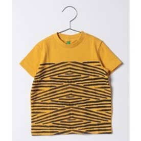 BENETTON (UNITED COLORS OF BENETTON (BOYS) 手描きボーダーTシャツ・カットソーUAR1(マスタード)【返品不可商品】