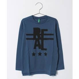BENETTON (UNITED COLORS OF BENETTON (BOYS) KIDSストリートプリント長袖Tシャツ・カットソー(ブルー)【返品不可商品】
