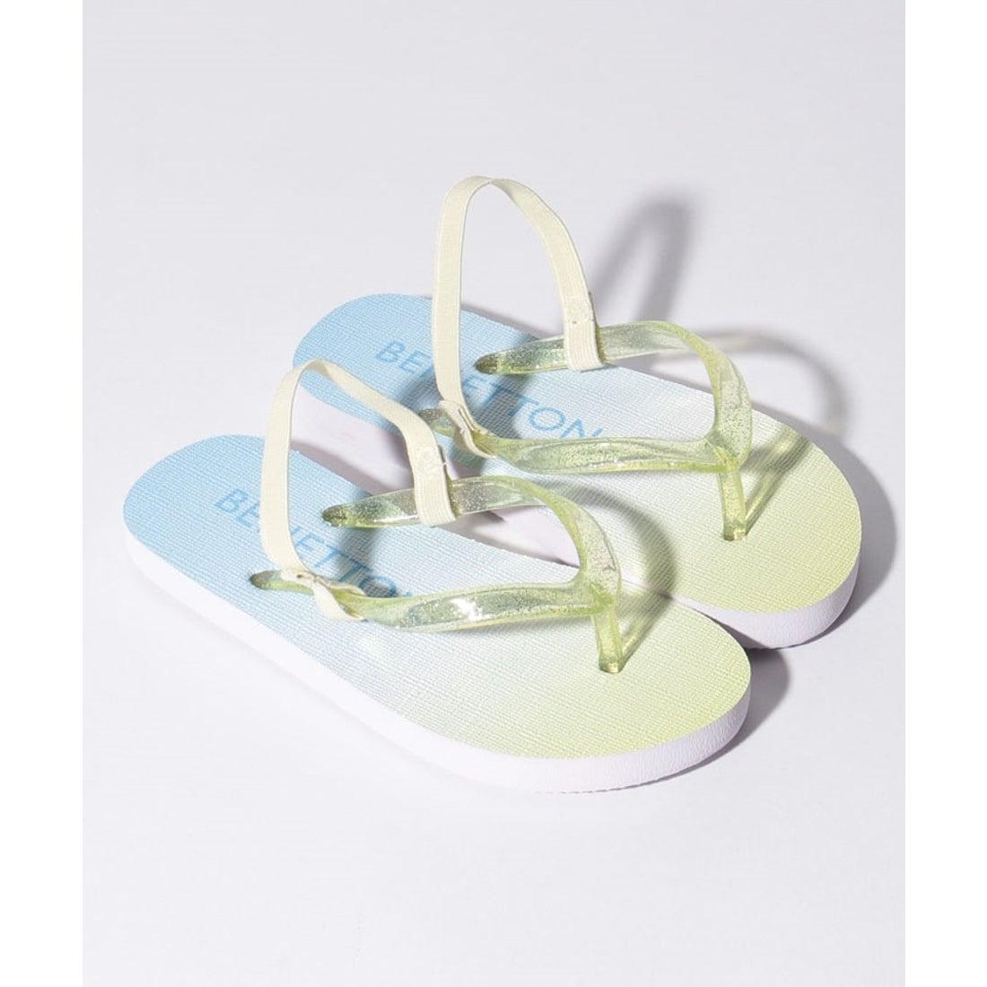 ロコンド 靴とファッションの通販サイトBENETTON (UNITED COLORS OF BENETTON (GIRLS) グラデーションビーチサンダル(サックスブルー)