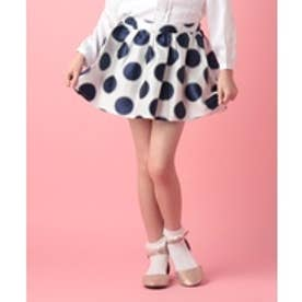 BENETTON (UNITED COLORS OF BENETTON (GIRLS) KIDSドットスカート(ホワイト×ネイビー)【返品不可商品】