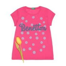 BENETTON (UNITED COLORS OF BENETTON (GIRLS) KIDSニューロゴベーシックTシャツ・カットソー(ピンク)【返品不可商品】