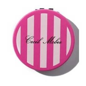CECIL McBEE シンプル柄マルミラー(ピンク)