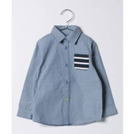 crocs(KIDS WEAR) CROCSソフトダンガリーシャツ(ブルー)【返品不可商品】