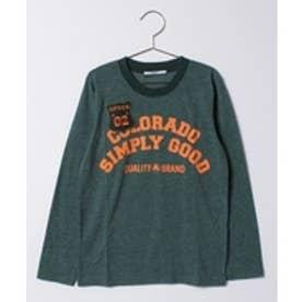 crocs(KIDS WEAR) CROCSロゴ長袖Tシャツ(カーキ)【返品不可商品】
