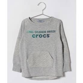 crocs(KIDS WEAR) CROCSキルティングトレーナー(グレー)