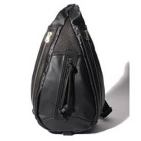 DECADE マットナイロンx牛革 ドロップショルダー(ブラック)