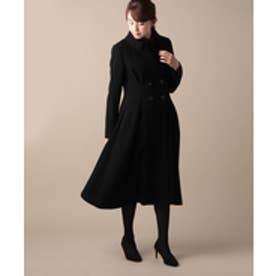 ELISA ハイツイストリングウールコート(1)(ブラック)