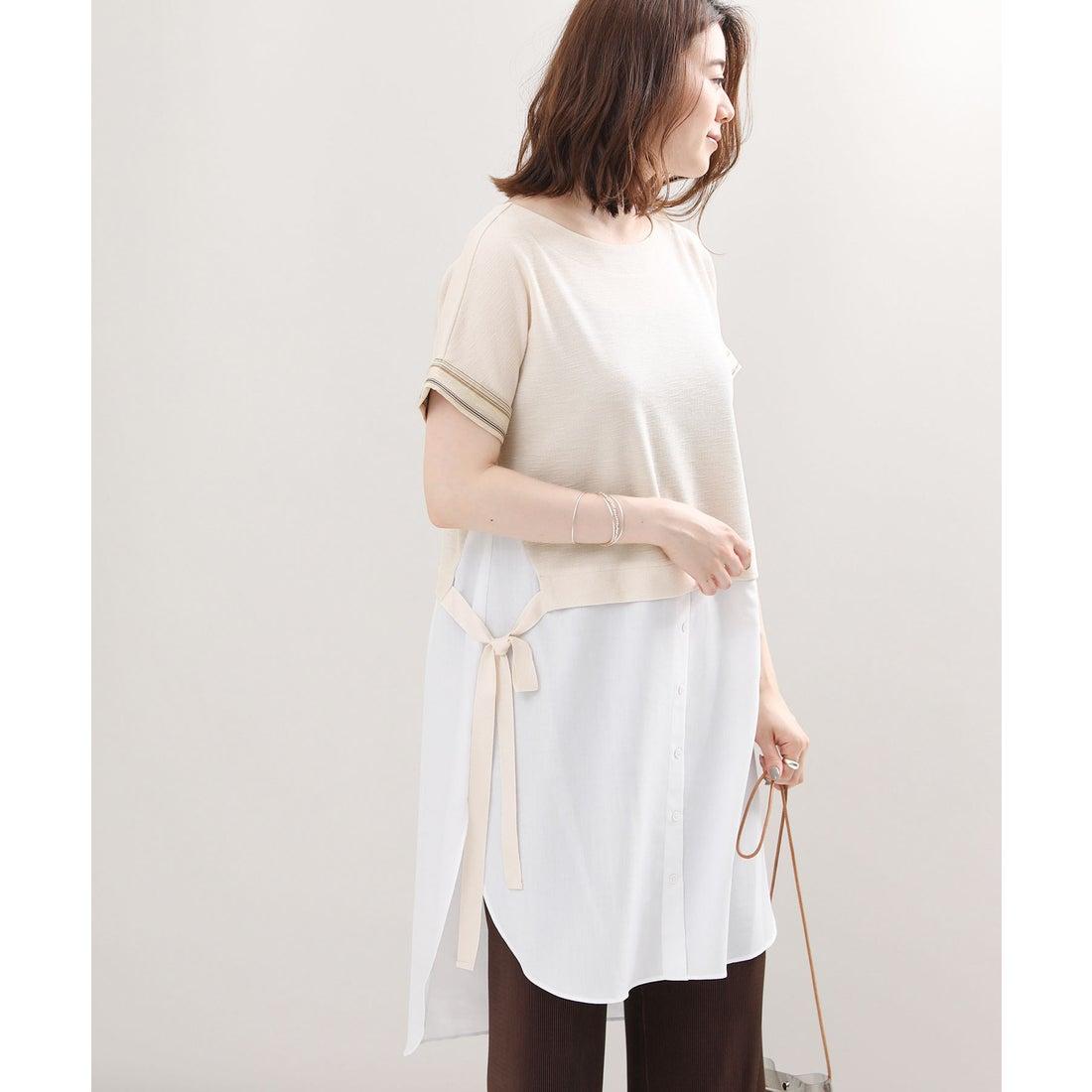 ロコンド 靴とファッションの通販サイトGready Brilliant レイヤード風チュニック(オフホワイト)【返品不可商品】