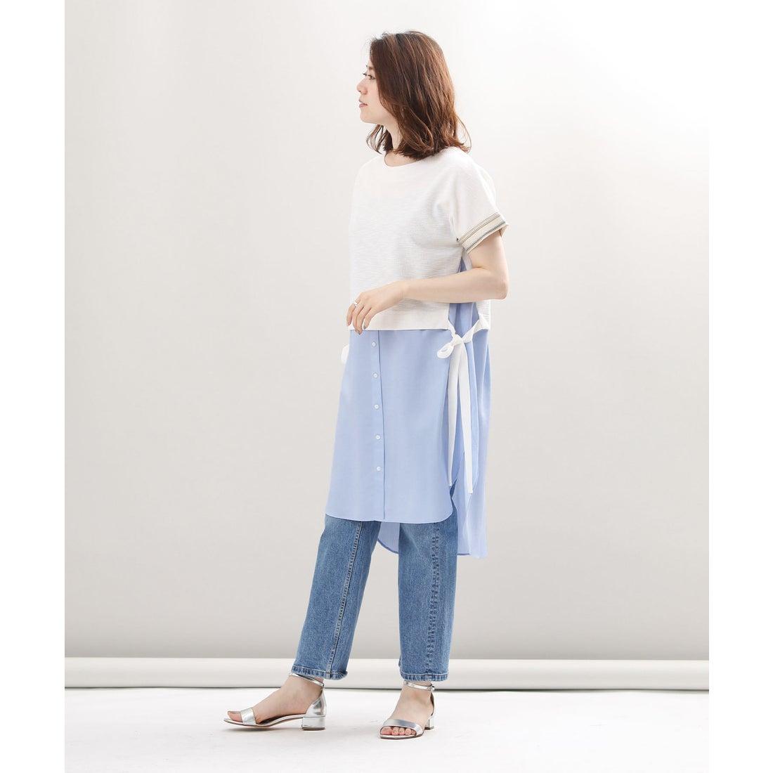 ロコンド 靴とファッションの通販サイトGready Brilliant レイヤード風チュニック(ブルー系)【返品不可商品】