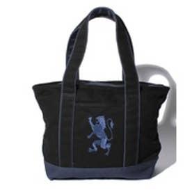 GIORDANOM [18AW 新作アイテム]ライオン刺繍キャンバスミニトートバッグ(ブラック)