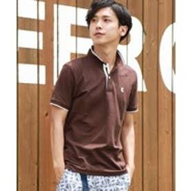 GIORDANOM チビライオン刺繍ポロシャツ(ブラウン)