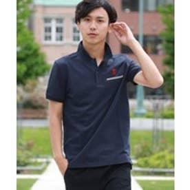 GIORDANOM 【毎年大人気】ラインポケットライオン刺繍ポロシャツ(ネイビー)【返品不可商品】