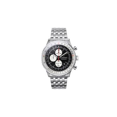 7a8a95af39 GUIONNET GUIONNET Flight Timer Professional 腕時計 FT44SSV メンズ(ブラック/ホワイト)  -靴&ファッション通販 ロコンド〜自宅で試着、気軽に返品