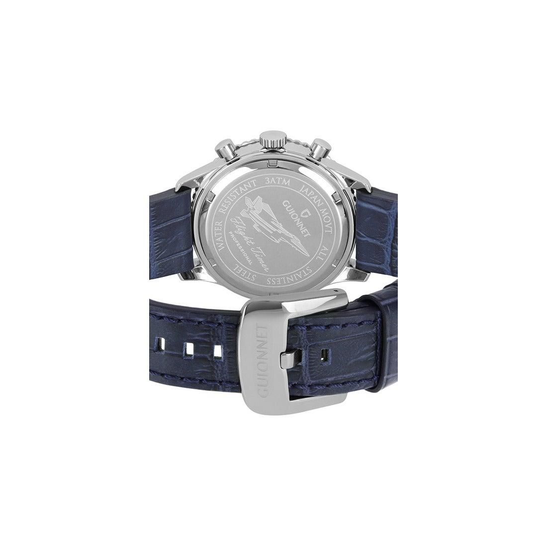 b14bcbb415 GUIONNET GUIONNET Flight Timer Professional 腕時計 FT44SSV メンズ ...