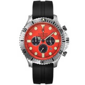 GUIONNET GUIONNET HYDROMASTER 300M防水クロノ 腕時計 メンズ(オレンジ×シルバー)【返品不可商品】