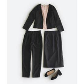 haco! 持っていると便利な野暮ったくならないフォーマルジャケット・パンツ・スカートの3点セット(ブラック)