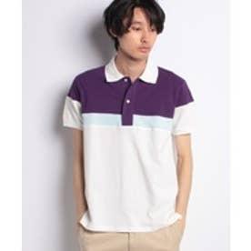 ikka 切替ポロシャツ(パープル)【返品不可商品】