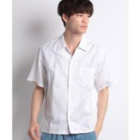 ikka ROOMDRYボックスシルエットシャツ(ホワイト)【返品不可商品】