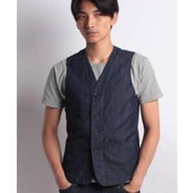 ikka デニム&オックスジレ(ネイビー)【返品不可商品】